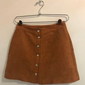 Tan, suede skirt